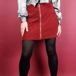 Red cord skirt- o-ring zipper